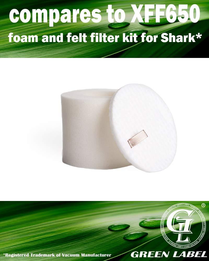 XFF80 4-Pack Foam /& Felt Filter Kit for Shark Navigator Upright Vacuum Cleaner