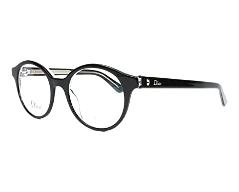 6ff35a6b473 Image Unavailable. Image not available for. Color  Christian Dior Montaigne  2 G99 Black Crystal Eyeglasses