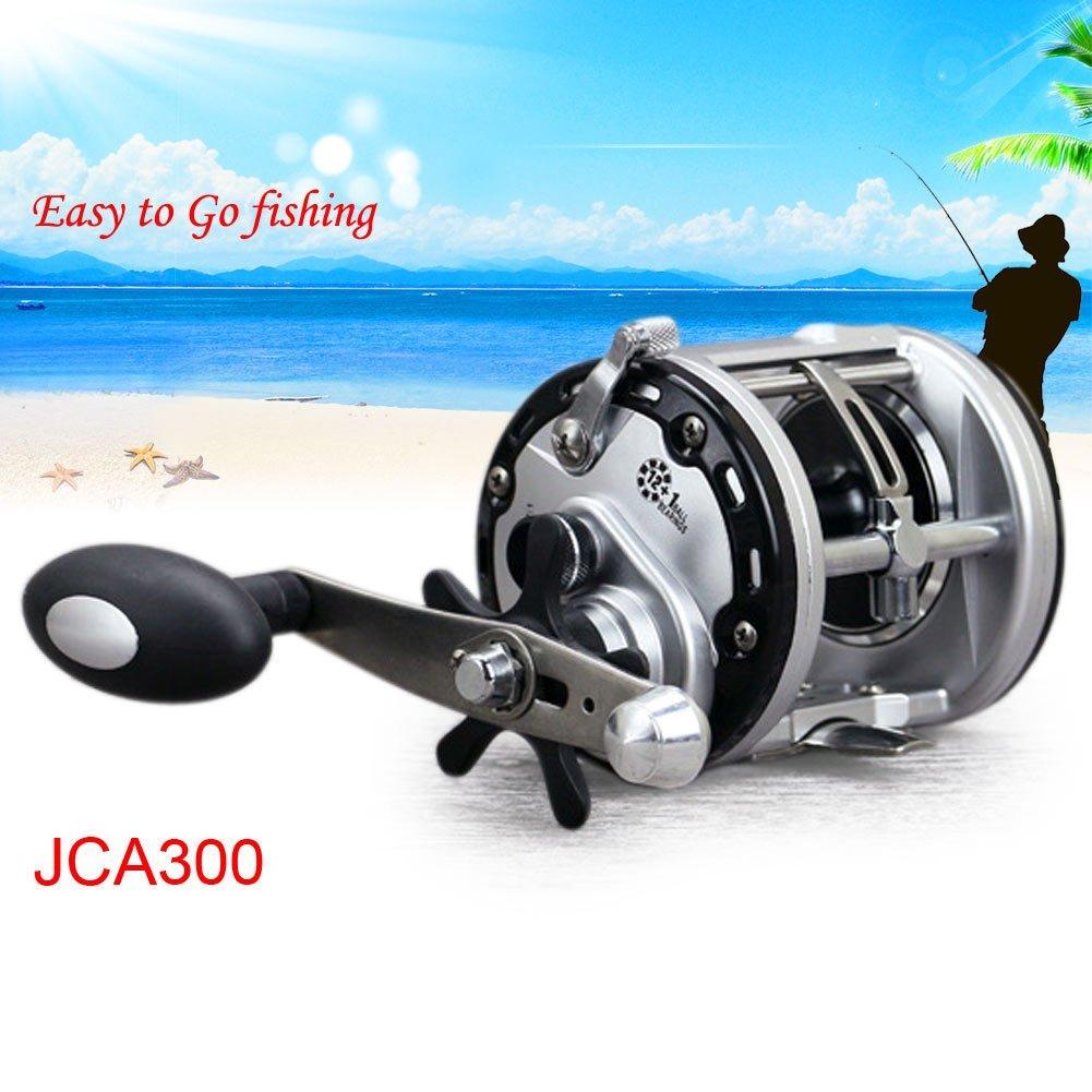 JCA200 right hand FidgetFidget Reel Trolling Baitcasting Fishing Reel Saltwater 13 Bearing