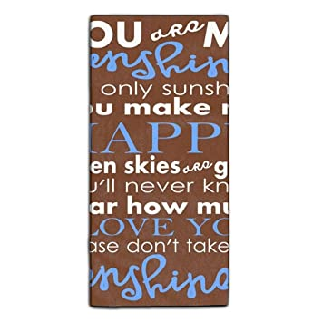 Amazon com: Highly Absorbent Towel You Are My Sunshine Microfiber