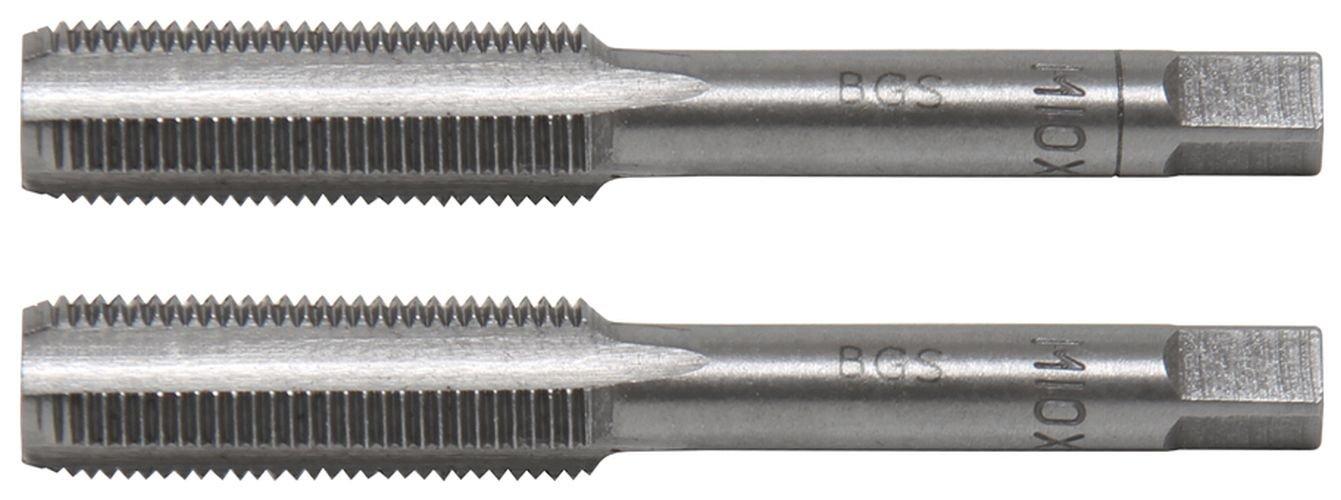 2-tlg. BGS 1900-M10X1.0-B Gewindebohrer M10x1.0 Vor /& Fertigschneider