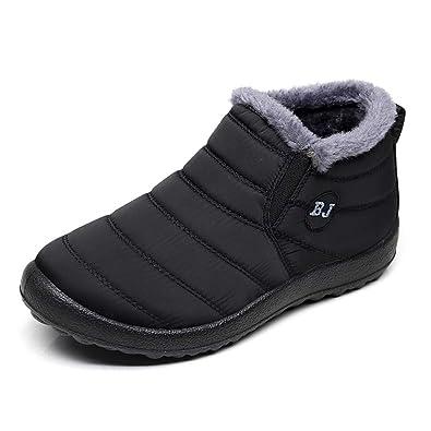 7e701be34e7 Amazon.com | Mens Waterproof Winter Boots No-Slip Light Weight ...