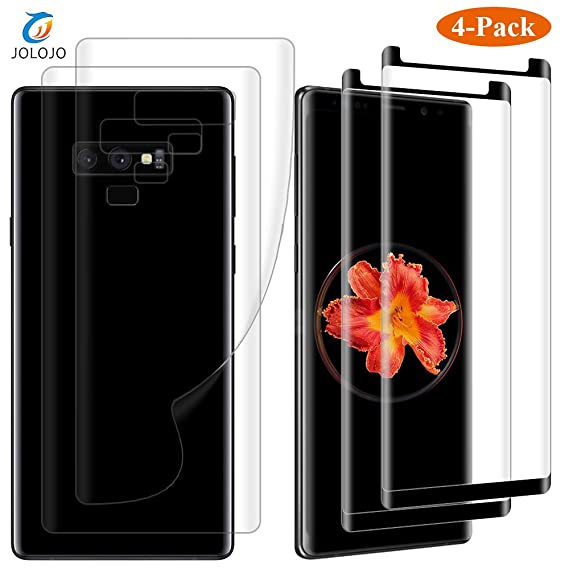 best service e7386 c9019 JOLOJO Galaxy Note 9 Screen Protector [Front and Back] Tempered Glass 2  Pack Glass + 2 Pack Clear PET Full Coverage Back Film [Easy ...