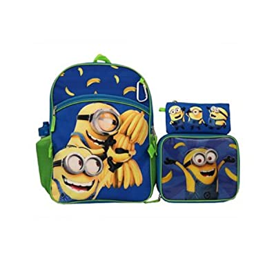 Despicable Me Minions 5 Piece Backpack and Lunch Bag Set | Kids' Backpacks