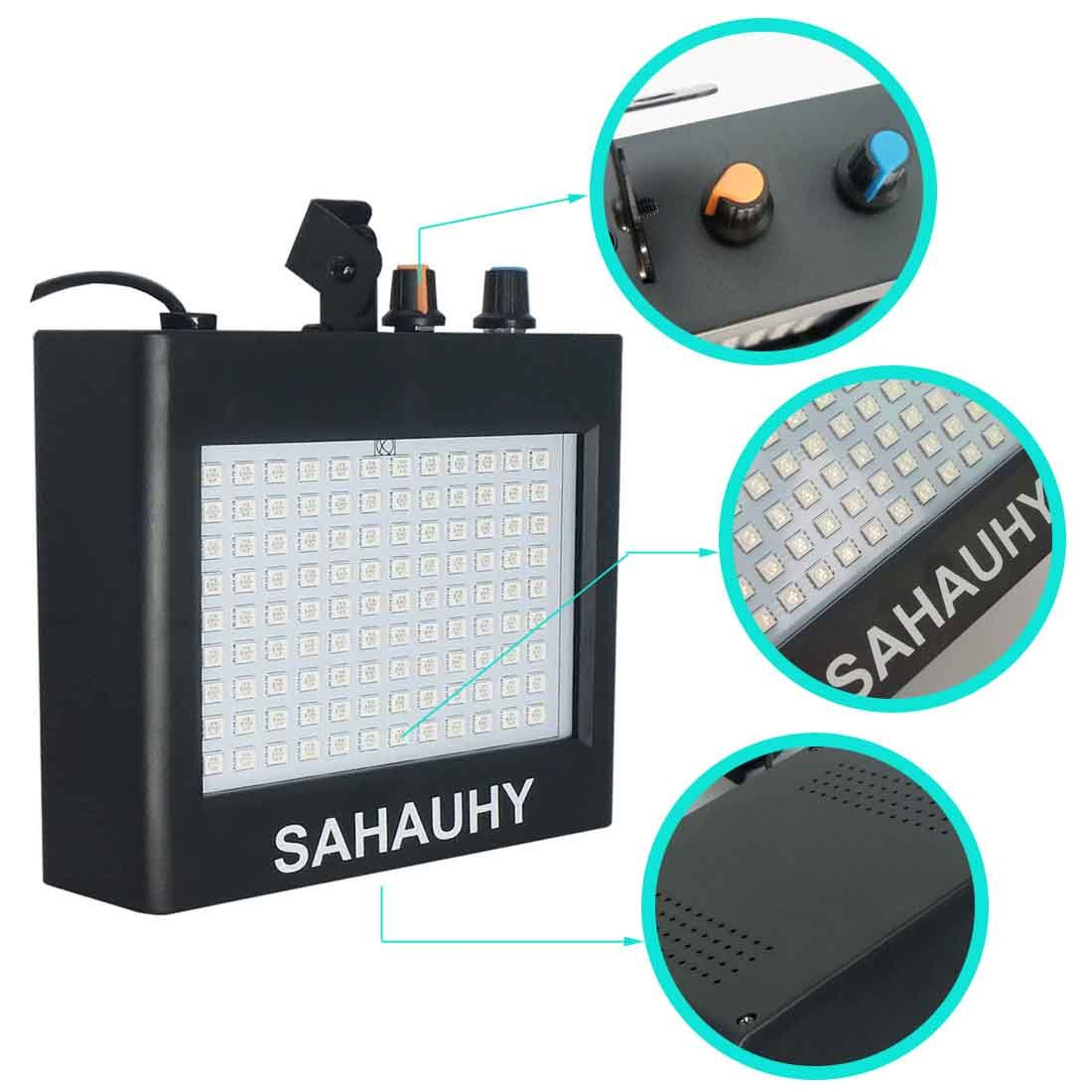 Strobe Lights,SAHAUHY 25W 108 LEDs Super Bright Flash Stage Lighting with Remote Control(Black One)