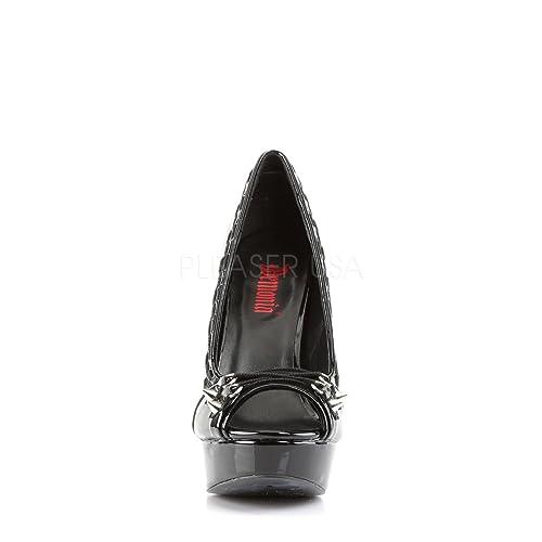 Demonia PIXIE Criss 18 Ladies Platform Peep Toe Pump Featuring Criss PIXIE Cross ... 390adf