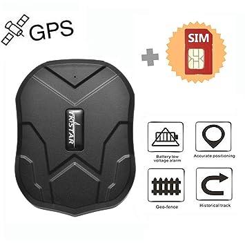 Tiempo Real Mini Portátil Localizador GPS, Incluye Tarjeta SIM con Plan de Datos para Seguimiento vehículo Coche Personal GPS Tracker Batería 5000mAh ...