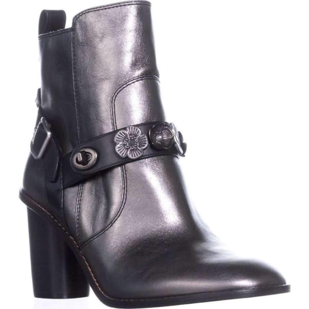 485a22aaa7d1e Amazon.com | Coach Womens Moto BTE Closed Toe Ankle Fashion Boots,  Gunmetal/Black, Size 6.0 | Shoes