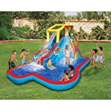 #3: Spring & Summer Toys Banzai Slide 'N Soak Splash Park Constant Air Water Slide (Nearly 8ft Tall and Includes Blower Motor)