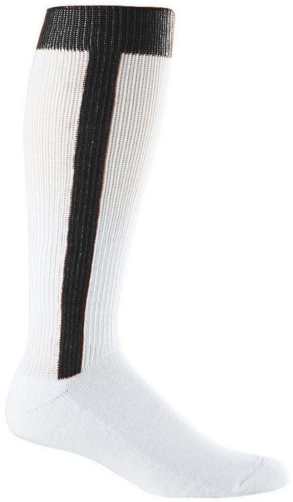 PACK OF 6 - Baseball Stirrup Socks - Adult Size - Black Augusta 6015