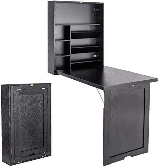 Nightcore Wall Mounted Table w/Classified Storage Space