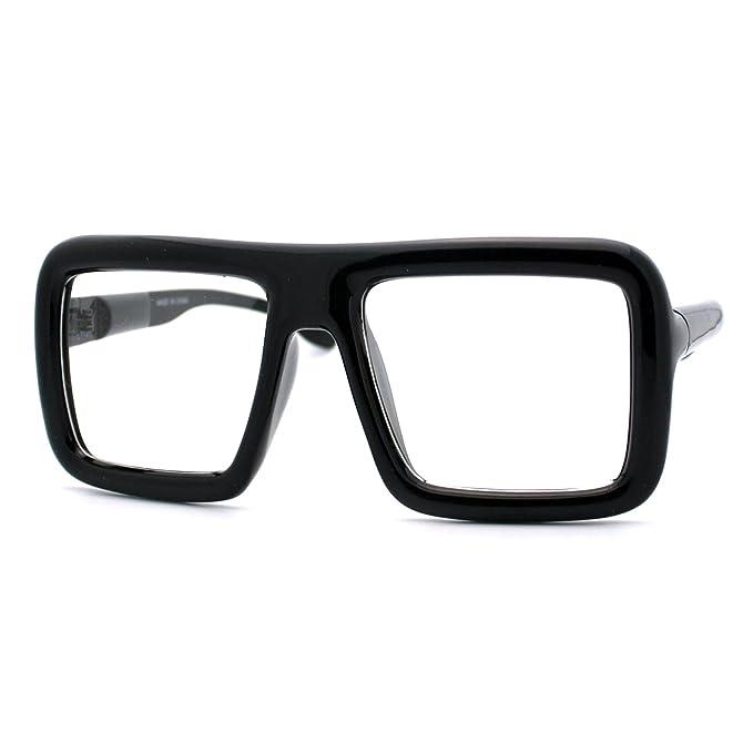 Amazon.com: Gafas cuadradas gruesas, lentes transparentes ...