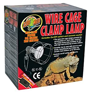 zoo med wire cage clamp lamp pet habitat lights pet supplies. Black Bedroom Furniture Sets. Home Design Ideas