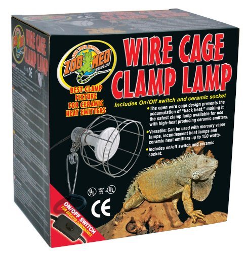 Zoo Med Ceramic Lighting - Zoo Med Wire Cage Clamp Lamp