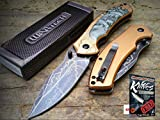 NEW Wartech 8.25'' Bronze Terminator Robot Tactical Spring Assisted Pocket Knife + free eBook by ProTactical'US
