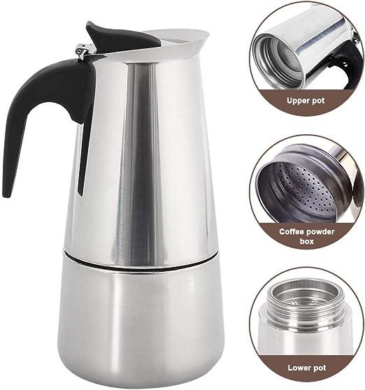 ZhongYe - Cafetera Espresso de inducción para 6 Tazas de café Moca, Jarra de 300 ml, para casa y Viajes: Amazon.es: Hogar