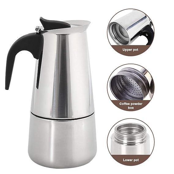 ZhongYe - Cafetera Espresso de inducción para 6 Tazas de ...