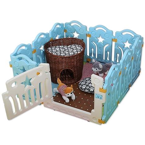 Baby laufgitter Parque Infantil De Plástico con Panel De Puerta 10, Casa De Barrera De