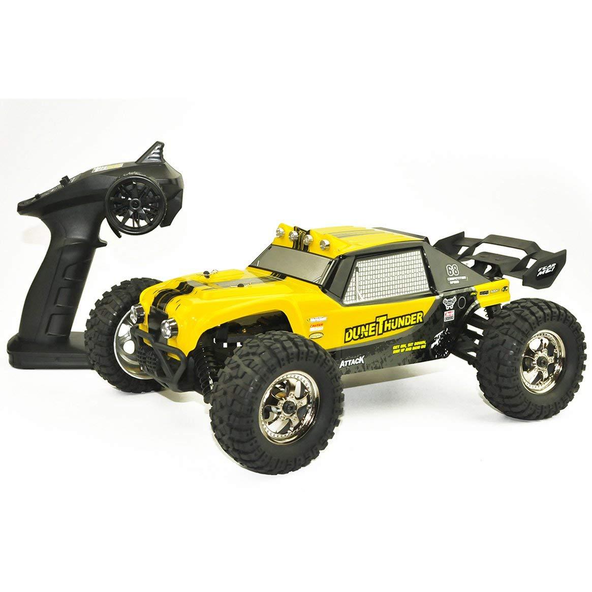 Delicacydex HBX 12891 Thruster 1:12 2.4GHz 4WD Drift Desert Off-Road de Alta Velocidad Racing Car Climber RC Juguete del Coche para niños Amarillo Amarillo