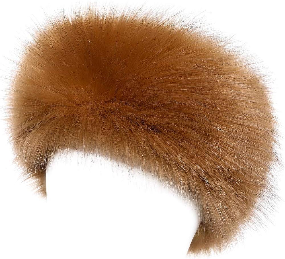 Yetagoo Faux Fur Headband for Women Winter Earwarmer Earmuff Hat Ski