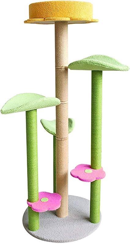 JISHIYU-Q Torre de árbol de Gato Cama de Escalada con Rayado ...