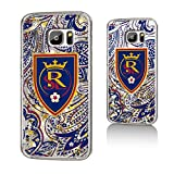 Keyscaper MLS Real Salt Lake Paisley Glitter Case for Galaxy S7, Clear