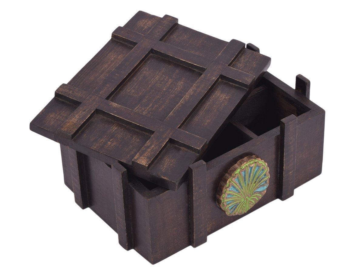 storeindya, Tea Boxes Wooden/Tea Box Organizer/Tea Box Holder/Tea Storage Box/Tea Chest Boxes/Wood Tea Box Handmade Wooden Teabags Holder Chest Organizer (Antique Wood Collection)