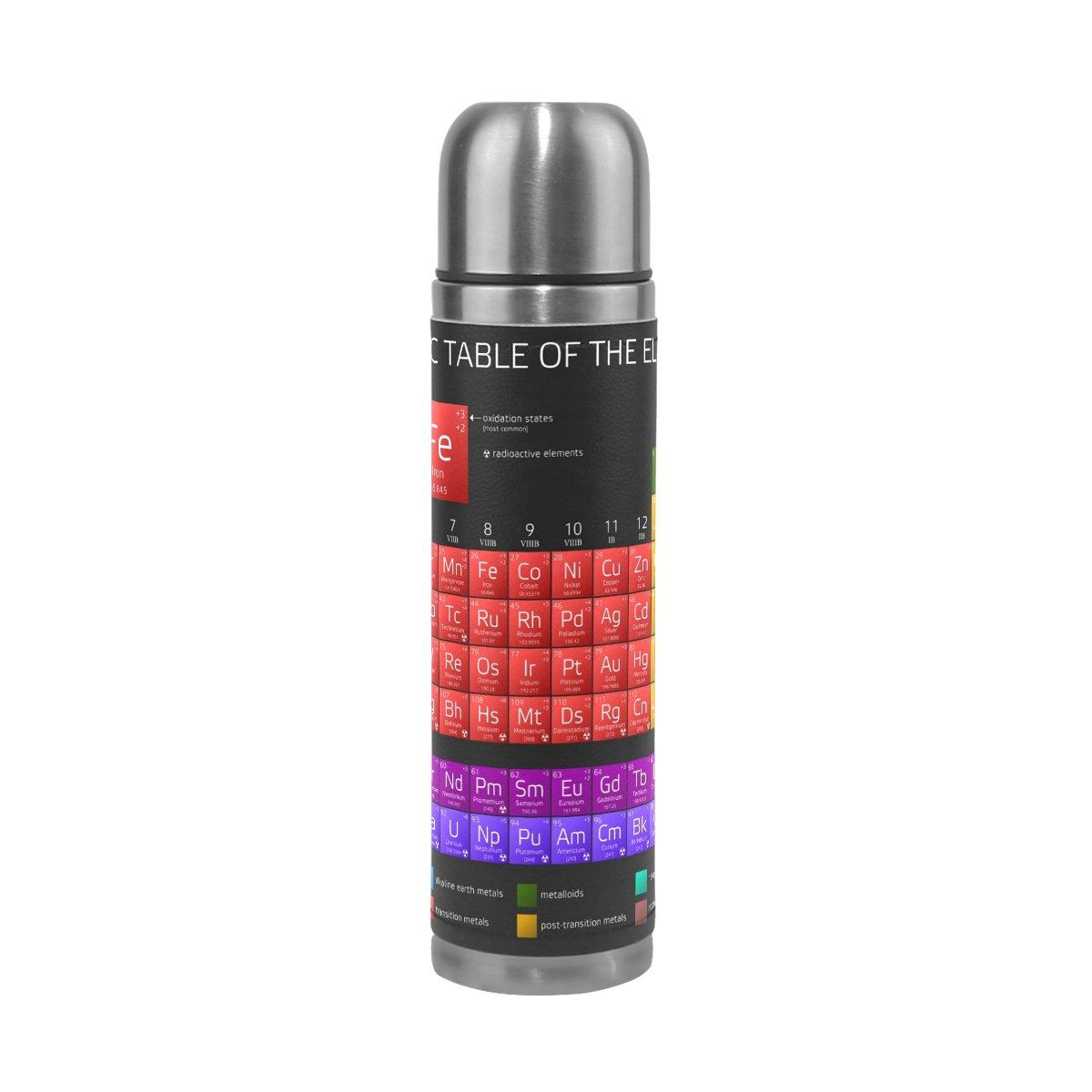 素晴らしい Alazaの要素の周期表ブラック二重壁水ボトル真空断熱魔法瓶フラスコGenuine 17 Leather B076ZJYQJ7 Wrapped 17 oz oz カラフル B076ZJYQJ7, 土岐市:c673e31b --- a0267596.xsph.ru