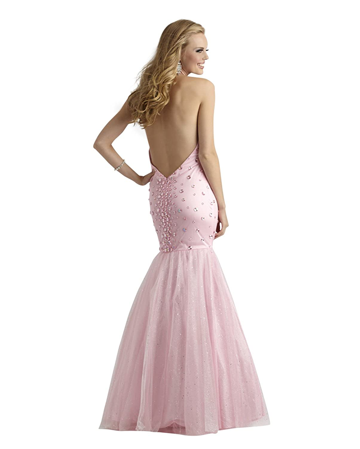 Long Halter Mermaid Formal, Evening and Prom Dress 2333 at Amazon Womens Clothing store: