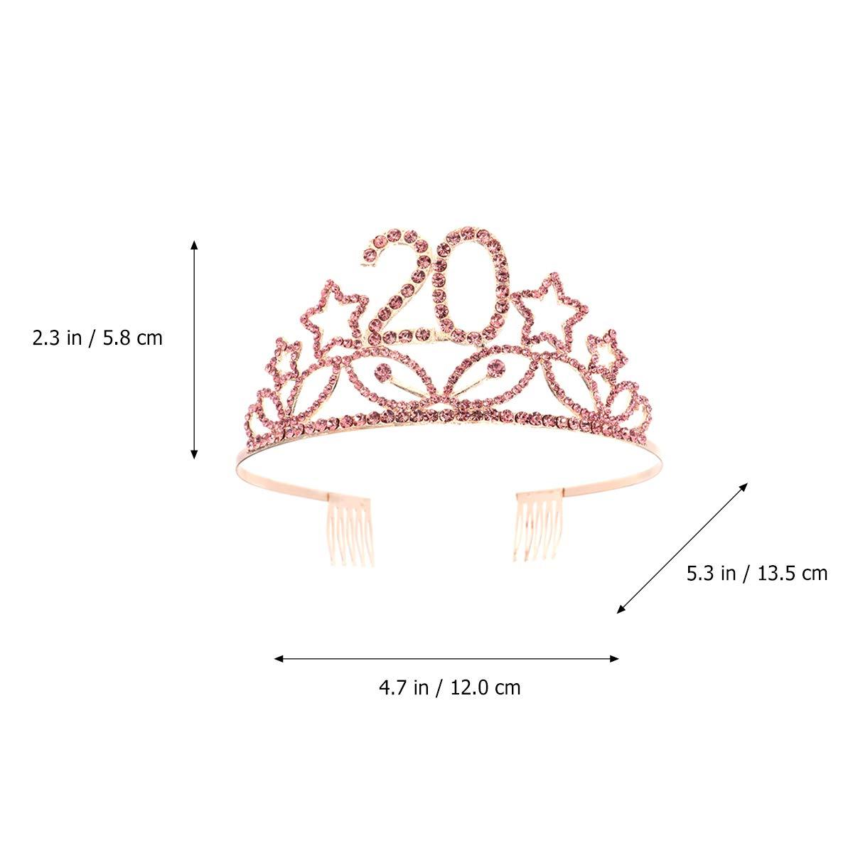 Lurrose Corona Princesa Cumpleaños 20 Años Diadema ...