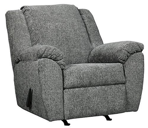 (Ashley Furniture Signature Design - Azaline Contemporary Rocker Recliner Chair - Manual Reclining - Slate)