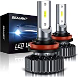 SEALIGHT H11 H8 H9 LED Headlight Bulbs Conversion Kit, 6000lm 6000k Cool White, Low Beam/Fog Light Bulb(pack of 2)