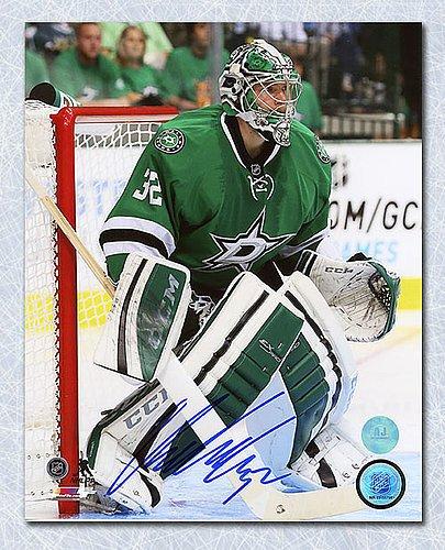 (Kari Lehtonen Autographed Dallas Stars 8x10 Game Action Photo - Signed Hockey Pictures)
