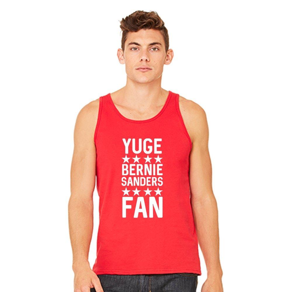 Mad Over Shirts Yuge Bernie Sanders Fan Unisex Premium Tank top