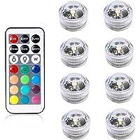 Petyoung Luces LED Sumergibles de 10 Piezas