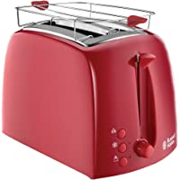 Russell Hobbs 21642-56 Toaster Grille-Pain Texture Fentes Larges - Rouge