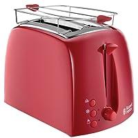 Russell Hobbs Textures Toaster, 850 W, 6 einstellbare Bräunungsstufen mit 2 extra breite Toastschlitze