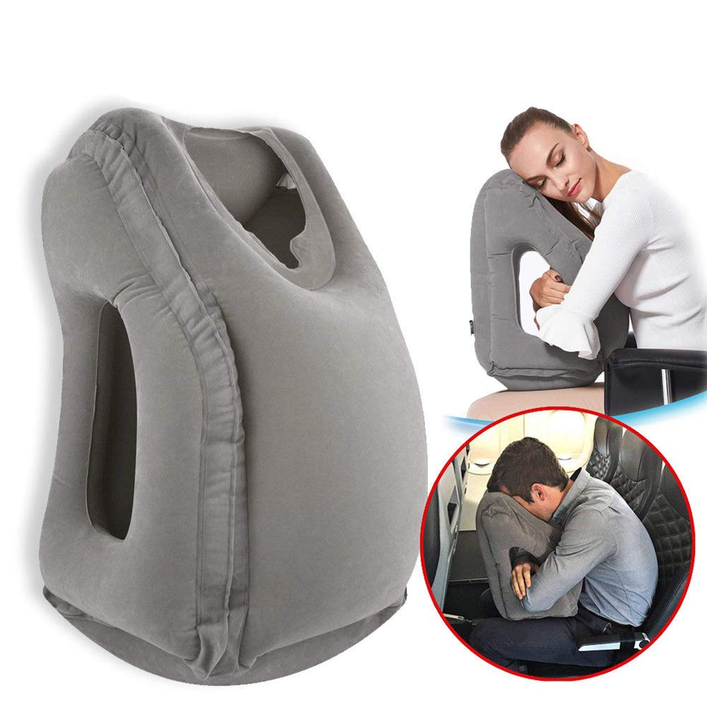 The VinMas Inflatable Portable Travel Pillow travel product recommended by Bethany Merillat on Lifney.