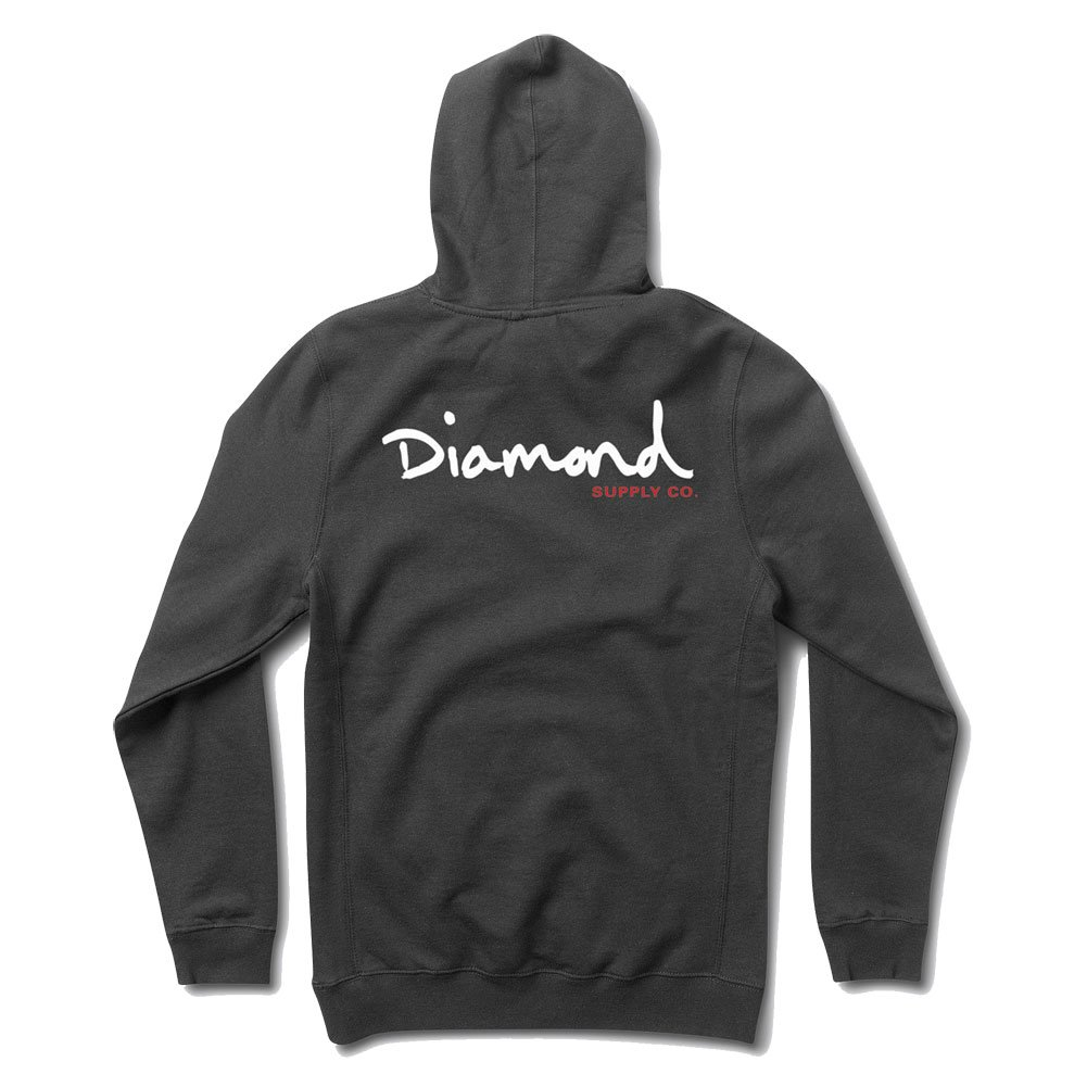 Diamond Supply Co. Men's OG Script Pullover Hoodie Navy Blau