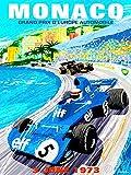 VINTAGE ADVERT MOTOR SPORT MONACO GRAND PRIX 1973 NEW FINE ART PRINT POSTER PICTURE 30x40 CMS CC4753
