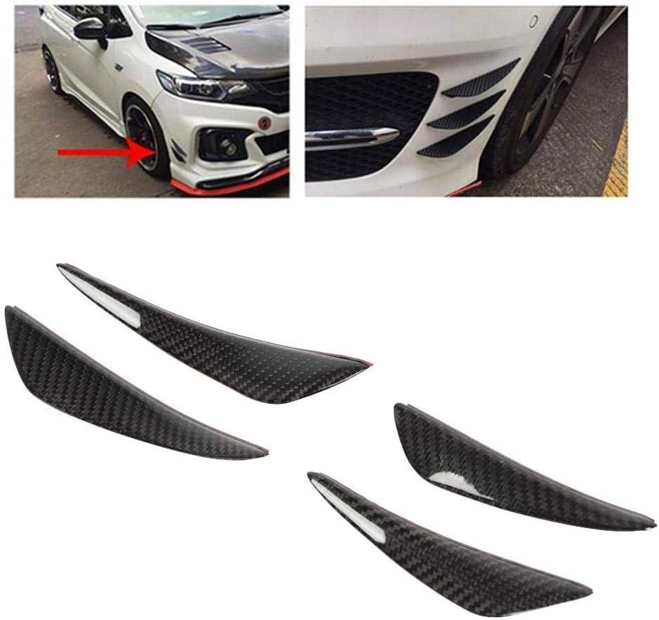 4 pz In Fibra di Carbonio Auto Paraurti Anteriore Canard Lip Splitter Pinne Corpo Spoiler Universale Auto Paraurti anteriore Paraurti Splitter Diffusore