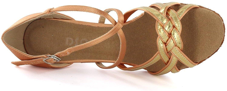 DSOL Womens Latin Dance Shoes DC1623-1 Heel 5.6 cm