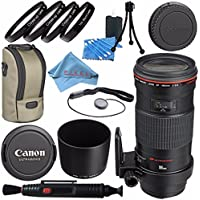 Canon EF 180mm f/3.5L Macro USM Lens 2539A007 + 72mm Macro Close Up Kit + Lens Cleaning Kit + Lens Pen Cleaner + Fibercloth Bundle