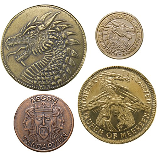 Shire Post Mint House Targaryen Set of 4 Coins: A Game Thrones Collectible Coins