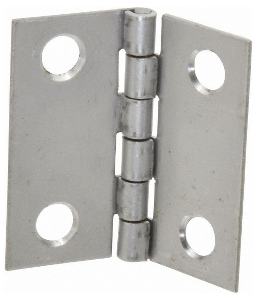 1-1/2'' Long x 1-1/2'' Wide x 0.035'' Thick, 302/304 Stainless Steel Commercial Hinge, 4 Holes, 0.086'' Pin Diam