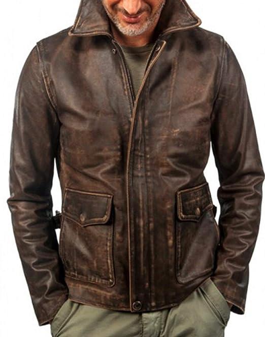 Leatherly Halloween Indiana Jones Harrison Leather Jacket - 5XL  Amazon.es   Ropa y accesorios 8350210d1d78