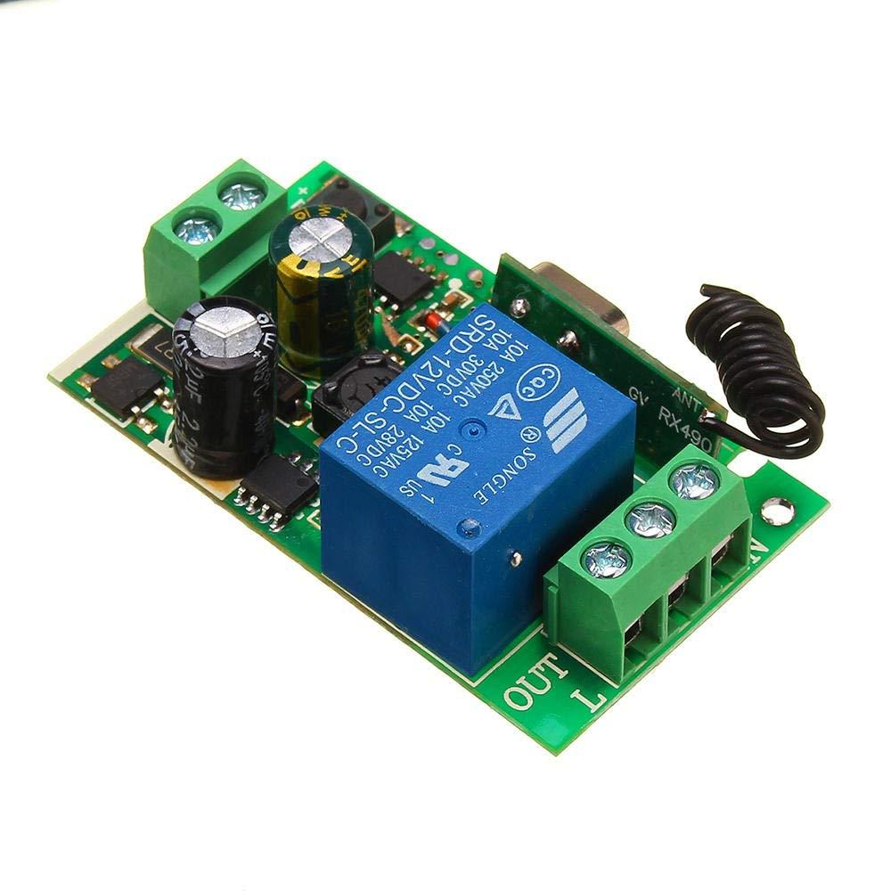 220V 10A 1CH Canal Sans Fil Commutateur Relais Télécommande Récepteur 315//433MHz