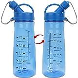 Wasserflasche, Trinkflaschen Sport, Wasser Flasche mit Tritan Material BPA Frei für Sport Gym Wandern Schule