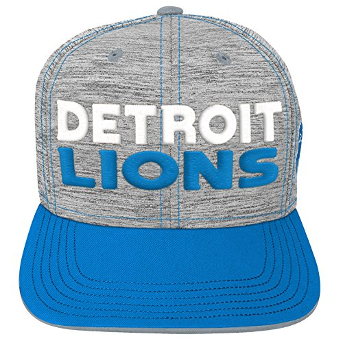 (Outerstuff NFL NFL Detroit Lions Youth Boys Space Dye Snapback Hat Heather Grey, Youth One Size)