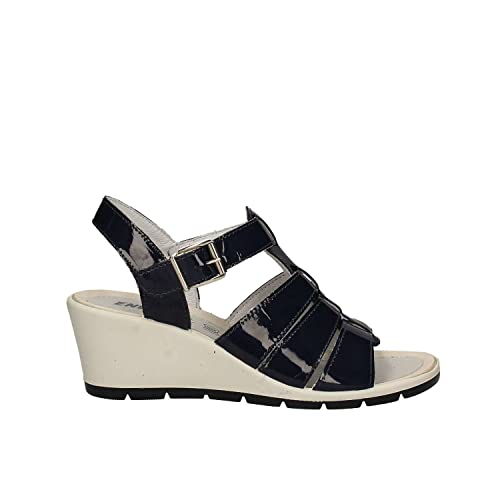 Enval 7986 Sandales compensées Femmes Beige Beige - Chaussures Sandale Femme